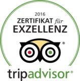 Zertifikat Tripadvisor 2016